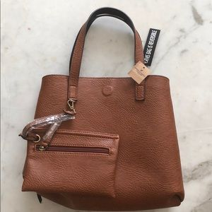 NWT!!! Mini Leather Reversible Tote👜